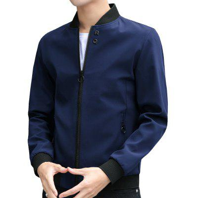Autumn New Fashion Leisure Men Color Coat Collar Fashion Jacket