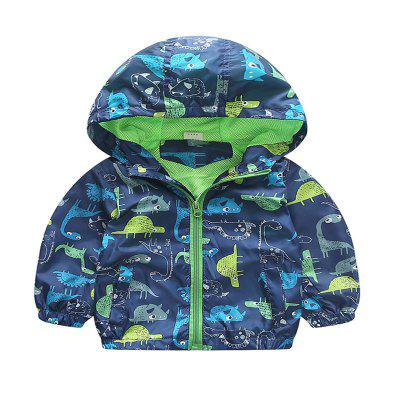 Children's New Hat Long Sleeve Cartoon Dinosaur Jacket