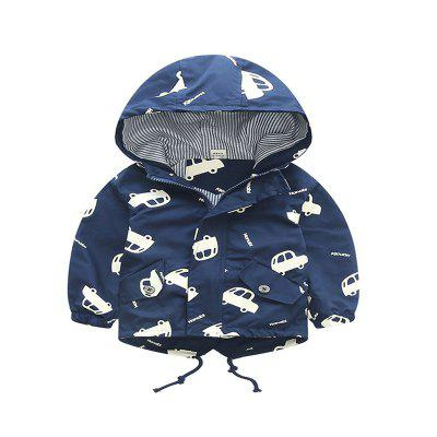 Coat  New Cartoon Car Design Long Sleeve Hooded Jacket