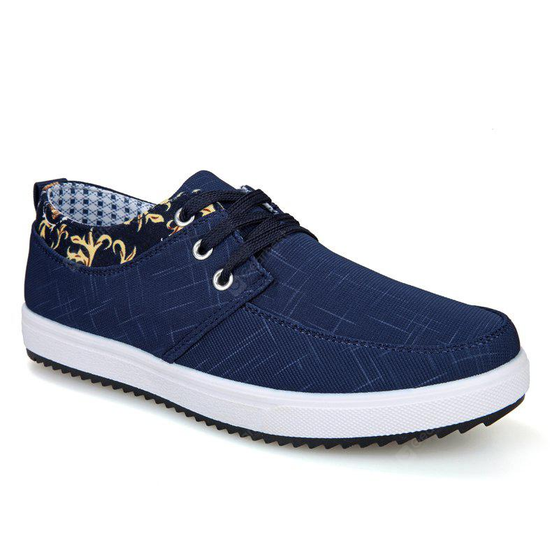 Men's Sneakers Lace Up Canvas Shoes Breathable Stylish Lacing All Match Non-Slip Shoes