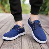 Men's Sneakers Lace Up Canvas Shoes Breathable Stylish Lacing All Match Non-Slip Shoes - BLUE
