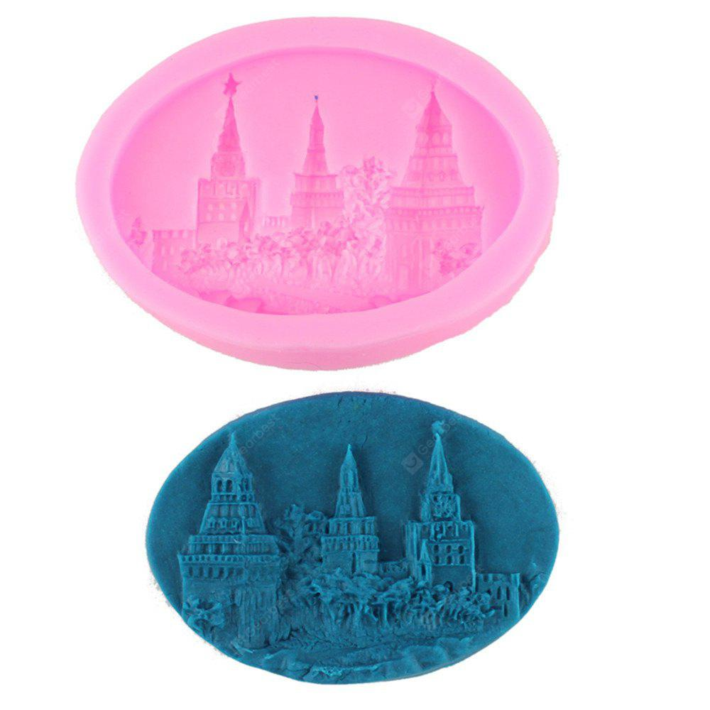 Castle Modeling Handmade Soap Cake Decorating Mold