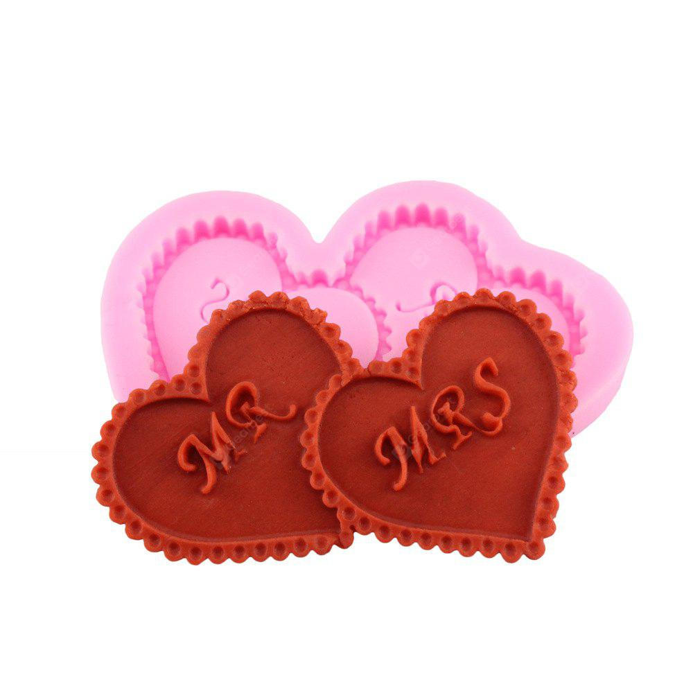A Pair of Loving Silicone Fondant Cake Mold