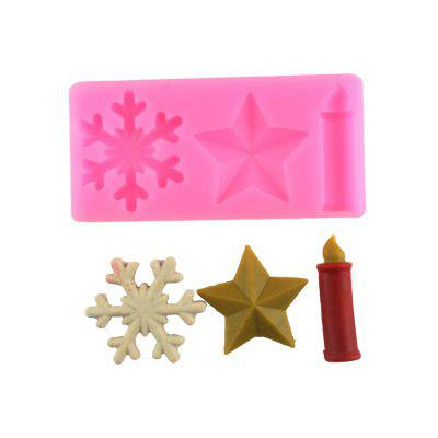 Snow Stars Candles Silicone Cake Mold