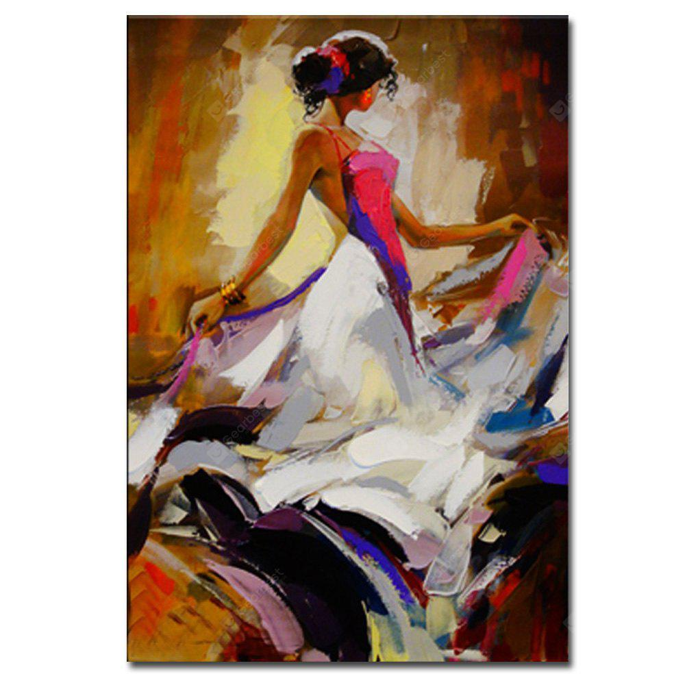 Hand Painted Abstract Figure Art Canvas Painting Dancer Oil Painting Wall Decoration COLORMIX