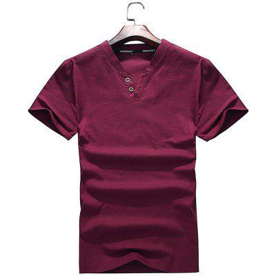 Men Trend All-Match Handsome Short Sleeved T-Shirt