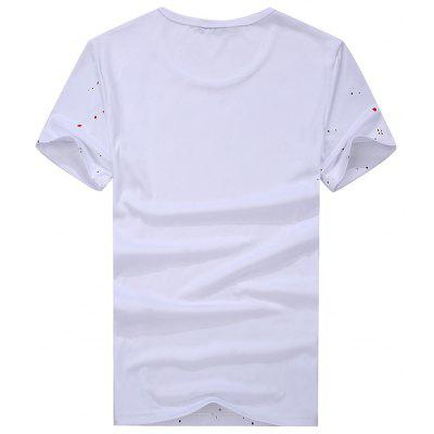 MenS Fashion Trend All-Match Handsome Short Sleeved T-ShirtMens T-shirts<br>MenS Fashion Trend All-Match Handsome Short Sleeved T-Shirt<br><br>Collar: Round Neck<br>Fabric Type: Woolen<br>Material: Cotton<br>Package Contents: 1x  T-shirt<br>Pattern Type: Print<br>Sleeve Length: Short Sleeves<br>Style: Casual<br>Weight: 0.3800kg