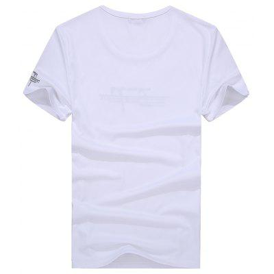 Fashion Trend All-Match Handsome Short Sleeved T-ShirtMens T-shirts<br>Fashion Trend All-Match Handsome Short Sleeved T-Shirt<br><br>Collar: Round Neck<br>Fabric Type: Woolen<br>Material: Cotton<br>Package Contents: 1x  T-shirt<br>Pattern Type: Letter<br>Sleeve Length: Short Sleeves<br>Style: Casual<br>Weight: 0.3800kg