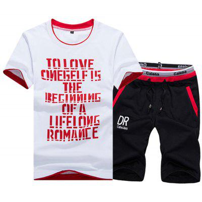 Summer Leisure Sports Fashion Suit
