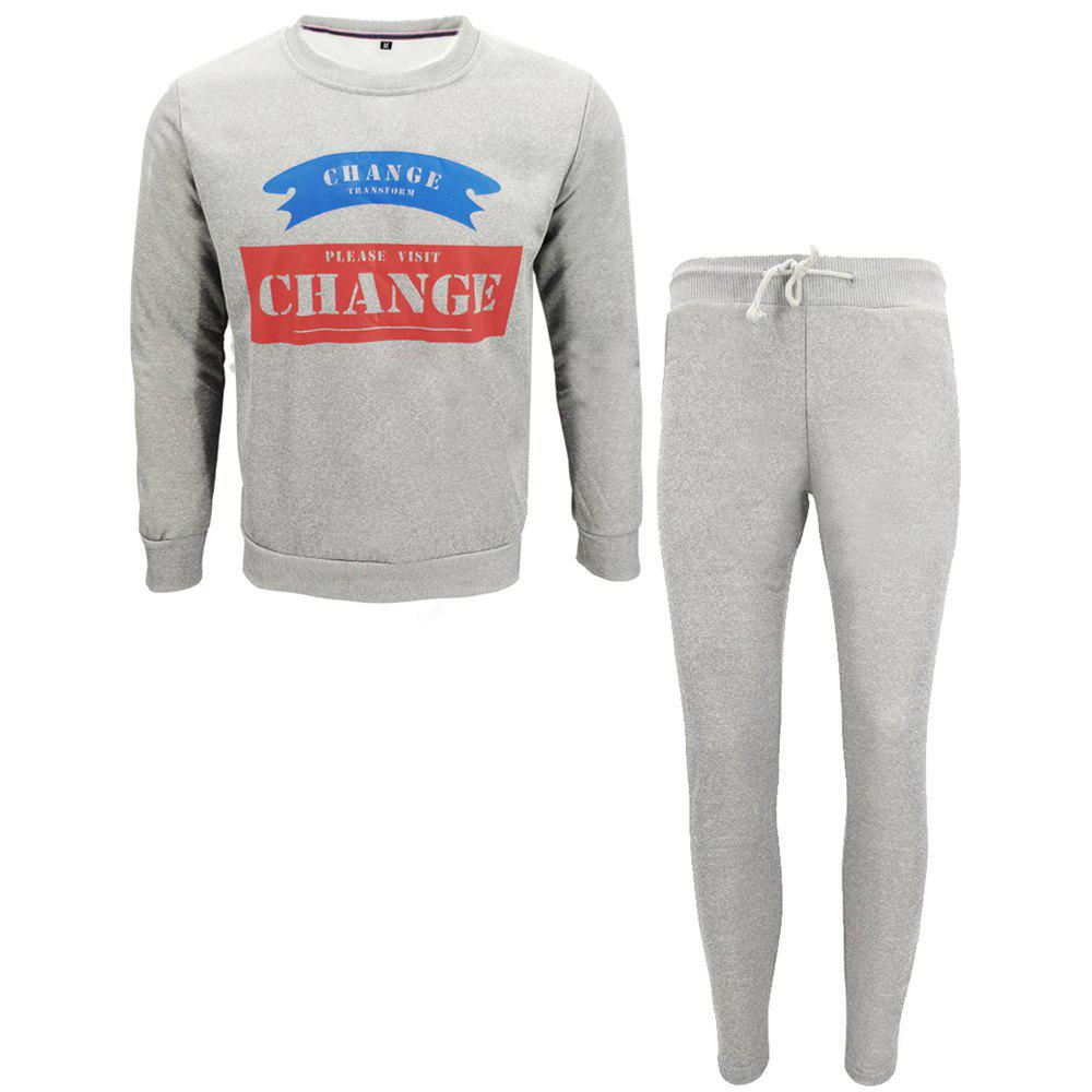 Men Fall Hoodies Leisure Sport Suit Trousers