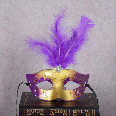 New Party Masquerade Masks Halloween Christmas Feather Mask Fashion Women Sexy Half Face Masked