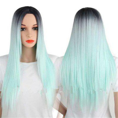 CHICSHE Synthetic Ombre Red Wigs Long Straight Cosplay Grey Hair Free Shipping