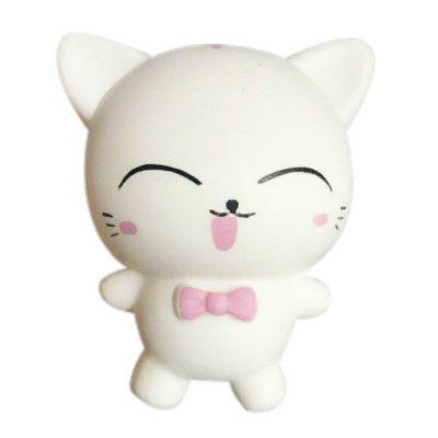 Squishys Slow Rising Stress Relief Soft Toys Replica Mini Cute Cat com gravata