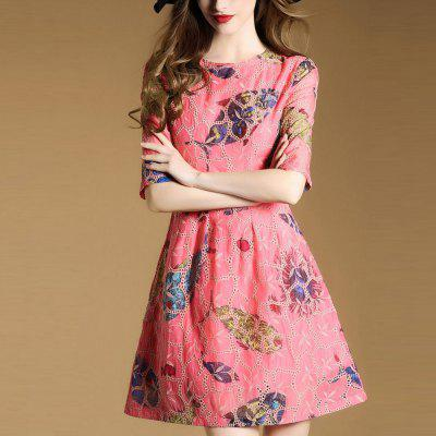 Round Collar Mid-sleeve Print DressMini Dresses<br>Round Collar Mid-sleeve Print Dress<br><br>Dresses Length: Mini<br>Elasticity: Nonelastic<br>Embellishment: Appliques<br>Fabric Type: Cotton Blends<br>Material: Polyester<br>Neckline: Round Collar<br>Package Contents: 1 x Dress<br>Pattern Type: Others<br>Season: Spring, Fall, Summer<br>Silhouette: A-Line<br>Sleeve Length: Half Sleeves<br>Style: Fashion<br>Waist: Natural<br>Weight: 0.4000kg<br>With Belt: No