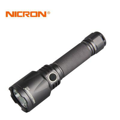 NICRON B60 USB Rechargeable High Performance Strong FlashlightLED Flashlights<br>NICRON B60 USB Rechargeable High Performance Strong Flashlight<br><br>Available Light Color: White<br>Battery Included or Not: Yes<br>Battery Quantity: 1<br>Battery Type: Li-ion, 18650<br>Beam Distance: 200 - 500m<br>Body Material: Aluminium Alloy<br>Charger Input Voltage: 100~240V<br>Charger Output Voltage: 5V<br>Circuitry: 0.5-2A<br>Color: Dark Gray<br>Color Temperature: 5000K~8000K<br>Emitters: Cree XP-L V5, 365nm UV Light<br>Emitters Quantity: 1<br>Feature: Compact, Strong, Constant Current Circuit, Low-voltage Warning, Anti-Roll Rugged Design, Adjustable brightness, Waterproof, Portable, Rechargeable, Charging indicator, Professional<br>Flashlight Processing Technology: Aerospace Grade Aluminum Body with Anti Scratching Type III Hard Anodization<br>Flashlight size: EDC,Full Size<br>Flashlight Type: Safety,Spotlight,POWERFUL,Tactical,Security,Beam<br>Function: Rescue, Law Enforcement, Hiking, Military and Tactical, EDC, Search, Work, Fishing, Camping, Emergency, Hunting, Exploring, Seeking Survival<br>High Mode: 1.5H<br>Impact Resistance: 2M<br>LED Lifespan: 50000hours<br>Lens: Toughened Ultra-clear Glass Lens with Anti-reflective Coating<br>Light color: White light<br>Light Modes: SOS,Strobe<br>Low Mode: 100H<br>Lumens Range: 500-1000Lumens<br>Luminous Flux: 1000Lumens<br>Luminous Intensity: 16000cd<br>Max.: 100H<br>Mid Mode: 35H<br>Mode: Customized Brightness Levels and A Multitude of Functions<br>Mode Memory: No<br>Model: B60<br>Package Contents: 1 x Flashlight , 1 x 18650Li-ion Battery , 1 x USB cable<br>Package size (L x W x H): 8.20 x 5.20 x 22.00 cm / 3.23 x 2.05 x 8.66 inches<br>Package weight: 0.1500 kg<br>Power: 9W<br>Power Source: USB,Battery,USB,Battery<br>Product size (L x W x H): 15.50 x 4.00 x 2.54 cm / 6.1 x 1.57 x 1 inches<br>Product weight: 0.1500 kg<br>Rechargeable: Yes<br>Reflector: Glossy Aluminum Reflector (High temperature industrial processes)<br>Strobe Mode: