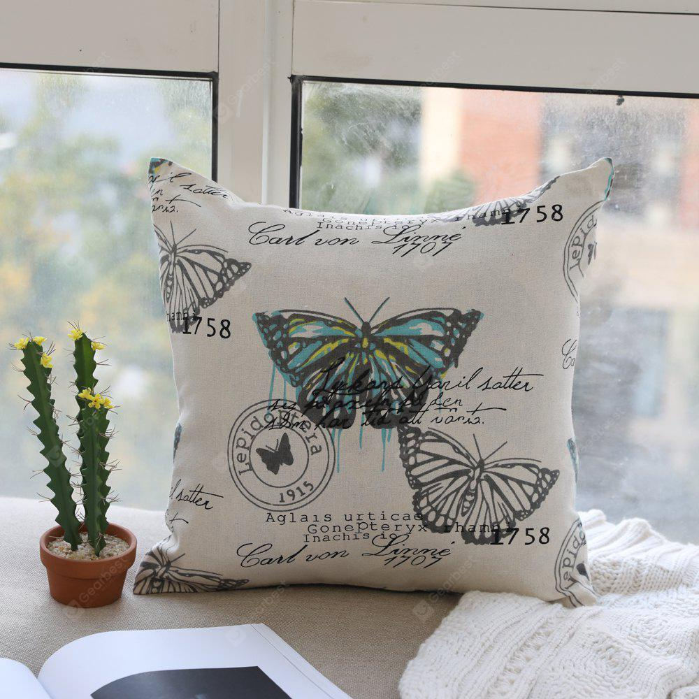 Butterfly Print Fashionable and Comfortable Fashion Comfy Cotton Cushion Cover