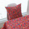 Cushion Cover Pastorable Style Bird Floral Printed Pattern Throw Pillow Cover - RED