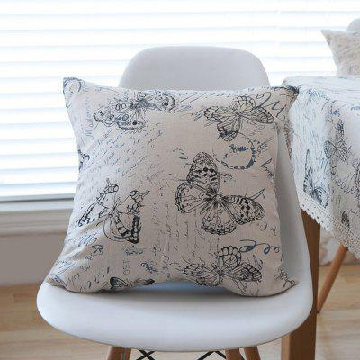 Home Decorative Pillowcase Butterfly Pattern Supple Sofa Cushion Cover