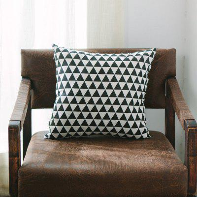 Sofa Cushion Cover Triangle Pattern Soft Square Pillowcase