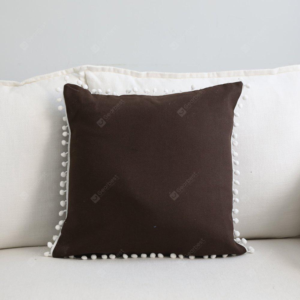 Sofa Cushion Case Solid Brief Style Square Comfortable Decorative Brown Pillowcase