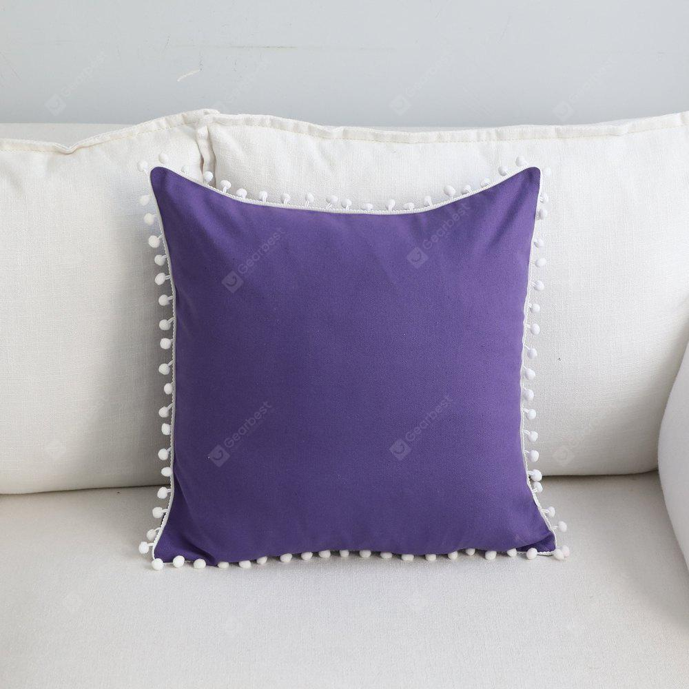 Sofa Cushion Case Solid Brief Style Square Comfortable Decorative Purple Pillowcase