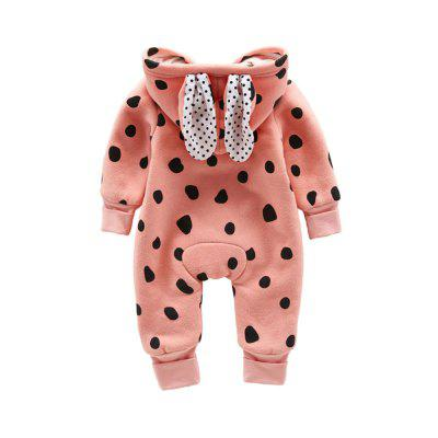 Small Lovely Little Rabbit Jumpsuitsbaby rompers<br>Small Lovely Little Rabbit Jumpsuits<br><br>Closure Type: Zipper<br>Collar: Hooded<br>Gender: Unisex<br>Material: Cotton, Cotton Blend<br>Package Contents: 1 x Jumpsuit<br>Pattern Style: Polka Dot<br>Season: Autumn<br>Sleeve Length: Full<br>Thickness: General<br>Weight: 0.3500kg