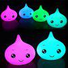 Colorful Water Drop Silica Gel Cuddly Cute Face Small Night Light  In The Bedroom Of  Lamp - WHITE