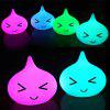 USB 7 Color Water Drop Silica Gel Naughty Boy Cute Face Small Night Light  Of The Lamp Bedroom - WHITE