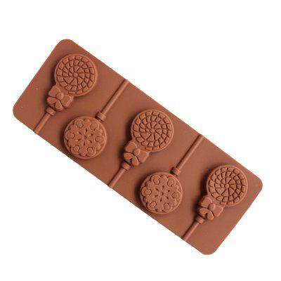 2 Pcs Shape of Dandelion and Hyacinth Silicone Lollipop Chocolate Mold