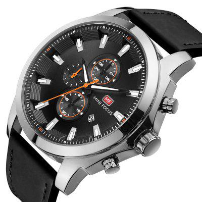 MINIFOCUS MF0082G 1290 Leisure Fashion Trend Decorative Small Dial with Calendar Belt Men Waterproof Quartz WatchMens Watches<br>MINIFOCUS MF0082G 1290 Leisure Fashion Trend Decorative Small Dial with Calendar Belt Men Waterproof Quartz Watch<br><br>Band material: Leather<br>Band size: 25.6 x 2.6cm<br>Brand: MINI FOCUS<br>Case material: Alloy<br>Clasp type: Pin buckle<br>Dial size: 4.5 x 4.5 x 1.32cm<br>Display type: Analog<br>Movement type: Quartz watch<br>Package Contents: 1 x Watch, 1 x Box<br>Package size (L x W x H): 28.00 x 8.00 x 3.50 cm / 11.02 x 3.15 x 1.38 inches<br>Package weight: 0.1280 kg<br>Product size (L x W x H): 25.60 x 4.50 x 1.32 cm / 10.08 x 1.77 x 0.52 inches<br>Product weight: 0.0980 kg<br>Shape of the dial: Round<br>Watch mirror: Mineral glass<br>Watch style: Casual, Business, Fashion<br>Watches categories: Men<br>Water resistance: 30 meters<br>Wearable length: 25.6 - 30cm