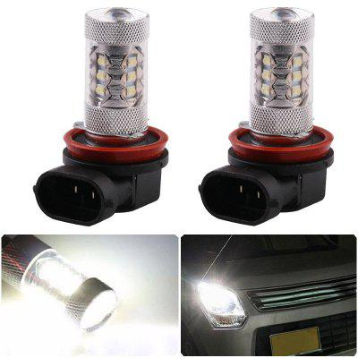 2PCS  H8/H11 16SMD 2828  80W 6500K -7000K LED Bulb for Car LED Fog Light Head Lamp DC12-24V
