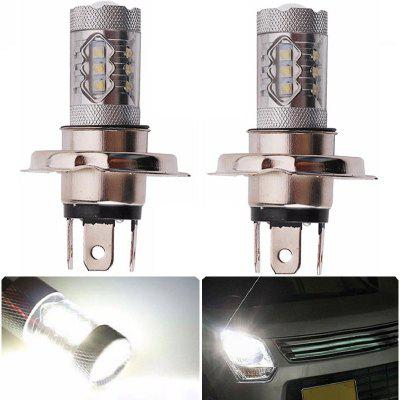 2PCS H4 16SMD 2828 80W 6500K -7000K LED Bulb for Car LED Fog Light Head Lamp DC12-24V
