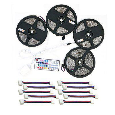 ZDM Waterproof 4PCS 5M 150x5050RGB LED Strip Light 44Key IR Controller and  with 10PCS Connecting line DC12V 140W