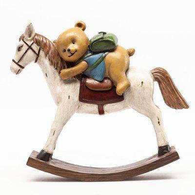 Rural Creative Resin Crafts Bear Rocking Horse Home DecorationCrafts<br>Rural Creative Resin Crafts Bear Rocking Horse Home Decoration<br><br>Material: Resin<br>Package Contents: 1 x Furnishing Articles<br>Package size (L x W x H): 25.00 x 9.00 x 23.00 cm / 9.84 x 3.54 x 9.06 inches<br>Package weight: 0.7000 kg<br>Subjects: Cartoon<br>Usage: Christmas, Birthday, Wedding, Party, Others, New Year