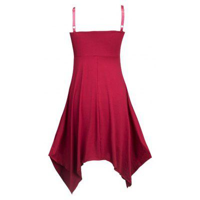 Fashion Irregular Sling DressMini Dresses<br>Fashion Irregular Sling Dress<br><br>Dresses Length: Knee-Length<br>Elasticity: Elastic<br>Embellishment: Backless<br>Fabric Type: Jersey<br>Material: Cotton, Polyester<br>Neckline: Spaghetti Strap<br>Package Contents: 1 x Dress<br>Pattern Type: Solid<br>Season: Spring, Fall, Summer<br>Silhouette: Asymmetrical<br>Sleeve Length: Sleeveless<br>Style: Fashion<br>Waist: Natural<br>Weight: 0.2000kg<br>With Belt: No