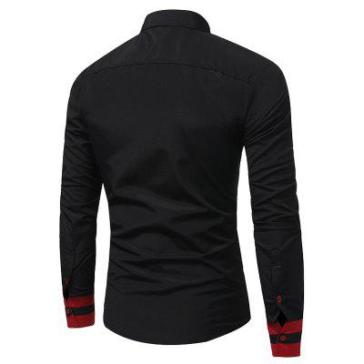 2018 Autumn and Winter New Fashion Stitching Casual Business Long-Sleeved Large-Size ShirtMens Shirts<br>2018 Autumn and Winter New Fashion Stitching Casual Business Long-Sleeved Large-Size Shirt<br><br>Collar: Turn-down Collar<br>Material: Cotton, Polyester<br>Package Contents: 1xshirt<br>Shirts Type: Tuxedo Shirts<br>Sleeve Length: Full<br>Weight: 0.2000kg