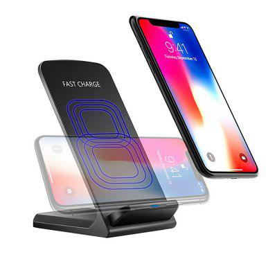 Minismile 10W / 5W Qi / QC Fast Wireless Charger Vertical or Horizontal Stand for IPHONE X / 8 / 8 Plus / Samsung