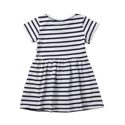 New 2018 Summer English Letter Printing Style Dress for GirlGirls dresses<br>New 2018 Summer English Letter Printing Style Dress for Girl<br><br>Dresses Length: Knee-Length<br>Elasticity: Elastic<br>Fabric Type: Worsted<br>Material: Cotton<br>Neckline: Round Collar<br>Package Contents: 1 x Girl Dress<br>Pattern Type: Striped<br>Season: Summer<br>Silhouette: A-Line<br>Sleeve Length: Short Sleeves<br>Style: Casual<br>Waist: Natural<br>Weight: 0.1100kg<br>With Belt: Yes