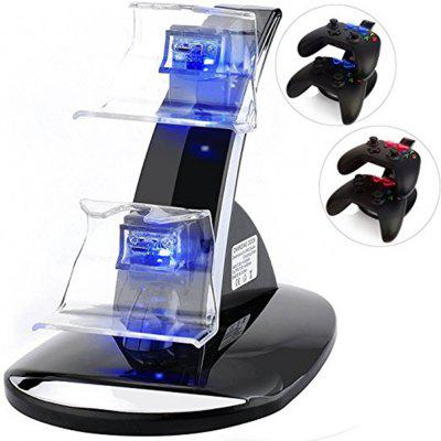 Dual Slot for Xbox One / One S Controller LED Light Charging Station Stand Charger