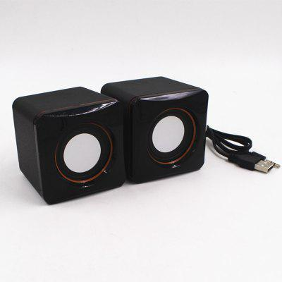Portable Mini Desktop Stereo Sound Box  Portable SoundSpeakers<br>Portable Mini Desktop Stereo Sound Box  Portable Sound<br><br>Audio Source: Electronic Products with USB port<br>Battery Voltage: 220V<br>Cable Length (cm): Foldable  20cm<br>Color: Black<br>Compatible with: MP4, MP3, Tablet PC, Computer<br>Connection: Wired<br>Design: Cool, Multifunctional<br>Features: Subwoofer, HiFi, Home Theater, Surround Sound, Woofer<br>Freq: 60Hz-20KHz<br>Functions: AUX Function<br>Material: ABS<br>Number of Speakers: 2<br>Package Contents: 1   x  Loudspeaker box(pair)<br>Package size (L x W x H): 6.50 x 6.80 x 6.50 cm / 2.56 x 2.68 x 2.56 inches<br>Package weight: 0.1750 kg<br>Power Source: USB<br>S/N: No less than 80db<br>Sound channel: Two-channel (stereo)<br>Speaker Impedance: 32 ohm<br>Supports: Volume Control, Hands-free Calls, LCD Screen, Loudspeaker<br>Working Voltage: 220V