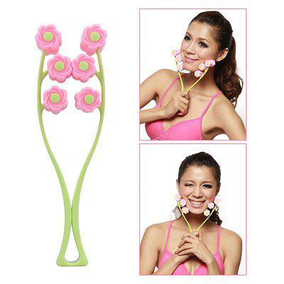 Portable Facial Massager Roller Flower Shape Elastic Anti Wrinkle Face-Lift Slimming Face Beauty Tools