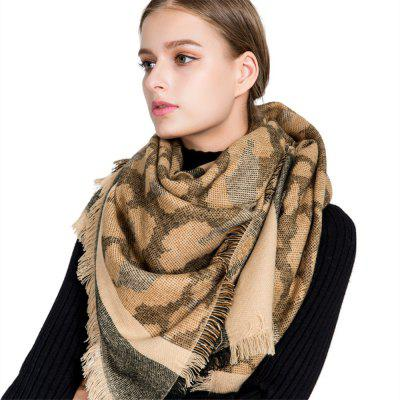 M1715 Leopard Camouflage Stripes Fringed Scarf