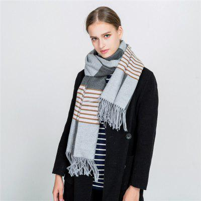 M1728 Stripes Spliced Tassel ScarfWomens Scarves<br>M1728 Stripes Spliced Tassel Scarf<br><br>Elasticity: Elastic<br>Gender: For Women<br>Group: Adult<br>Material: Acrylic<br>Package Contents: 1 x scarf<br>Package size (L x W x H): 1.00 x 1.00 x 1.00 cm / 0.39 x 0.39 x 0.39 inches<br>Package weight: 0.3200 kg<br>Product weight: 0.3200 kg<br>Scarf Type: Scarf<br>Season: Winter, Fall, Spring<br>Style: Fashion