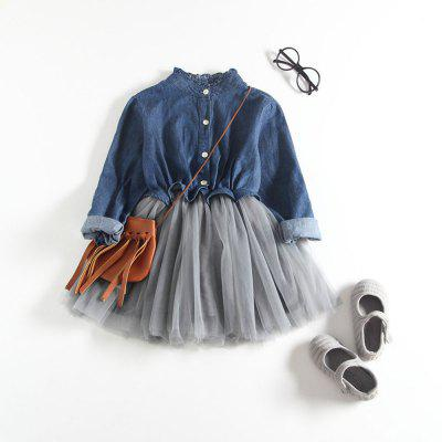 Girls New Autumn Denim DressGirls dresses<br>Girls New Autumn Denim Dress<br><br>Dresses Length: Knee-Length<br>Material: Cotton<br>Package Contents: 1 x Dress<br>Pattern Type: Solid<br>Silhouette: Ball Gown<br>Style: Casual<br>Weight: 0.2000kg<br>With Belt: No