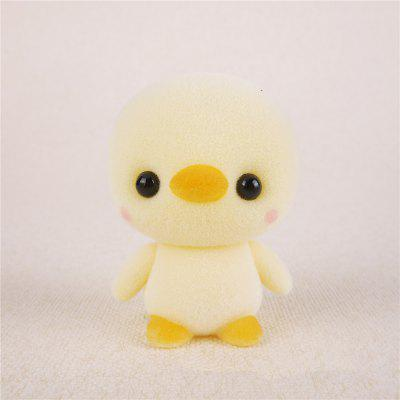 Mini Lovely Flocking Yellow Duck Doll Furnishing Articles Kids Gift