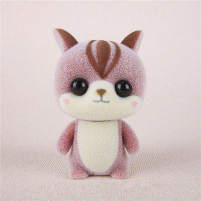 Mini Lovely Flocking Pink Squirrel Doll Furnishing Articles Kids Gift