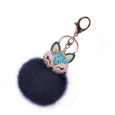 Anple Real Rabbit Fur Ball with Artificial Fox Head Inlay Pearl Rhinestone Key Chain for Womens Bag or CellphoneKey Chains<br>Anple Real Rabbit Fur Ball with Artificial Fox Head Inlay Pearl Rhinestone Key Chain for Womens Bag or Cellphone<br><br>Design Style: Romantic, Fashion<br>Gender: Unisex<br>Materials: Sunday Angora Yarns, Zinc Alloy<br>Package Contents: 1 x Key Chain<br>Package size: 6.00 x 3.00 x 1.50 cm / 2.36 x 1.18 x 0.59 inches<br>Package weight: 0.0290 kg<br>Product weight: 0.0200 kg<br>Stem From: Other<br>Theme: Hang Decoration