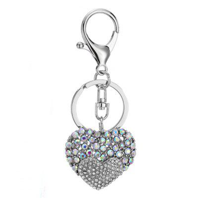 Love Rhinestone Tassel Keychain Key Ring