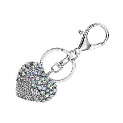 Love Rhinestone Tassel Keychain Key RingKey Chains<br>Love Rhinestone Tassel Keychain Key Ring<br><br>Design Style: Fashion, Romantic<br>Gender: Unisex<br>Materials: Zinc Alloy<br>Package Contents: 1 x Key Chain<br>Package size: 6.00 x 3.00 x 1.50 cm / 2.36 x 1.18 x 0.59 inches<br>Package weight: 0.0290 kg<br>Product weight: 0.0200 kg<br>Stem From: Other<br>Theme: Love,Hang Decoration