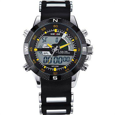 WEIDE Watches Men Luxury Brand Famous Military LCD Luminous Analog Digital Date Week Alarm Display Watch